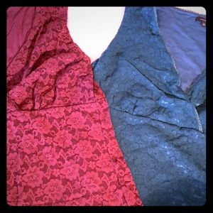 Bundle of two XL Lace tops perfect with Suits!
